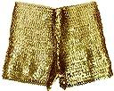 DFギャラリー ショートパンツ ダンスウェア ステージ衣装 伸縮 スパンコール BO0376 ゴールド フリー