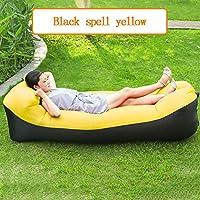 超軽量枕怠惰なソファインフレータブルソファポータブル寝袋エアソファベッド240 * 70 cm,Yellow