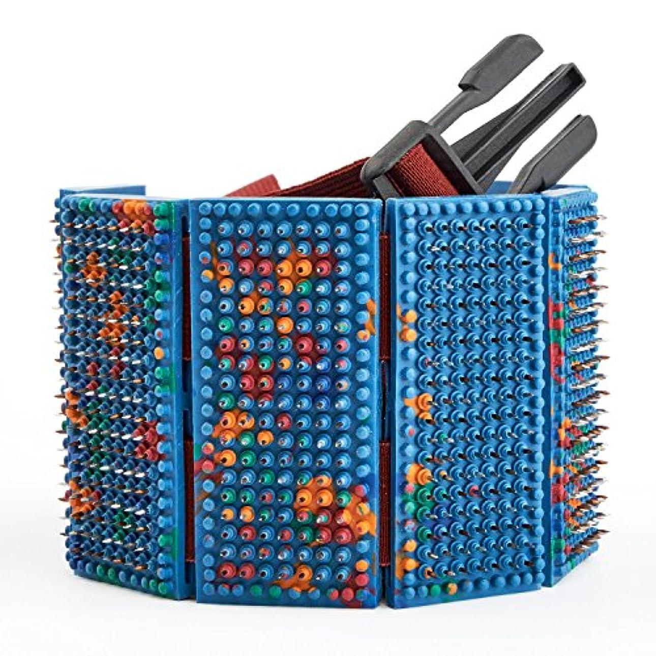 津波ピラミッドまどろみのあるLYAPKO Acupuncture Belt KID 3.5 Ag 960 Needles 6 Plates with 2 Adjustable Belts. Premium Acupressure Massager...