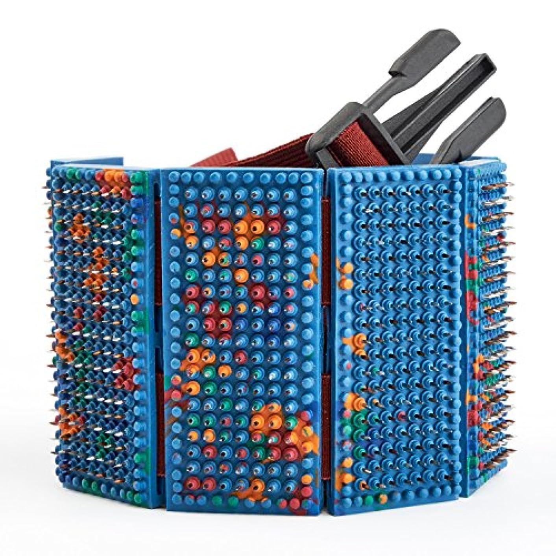 怒るパネル雑草LYAPKO Acupuncture Belt KID 3.5 Ag 960 Needles 6 Plates with 2 Adjustable Belts. Premium Acupressure Massager...