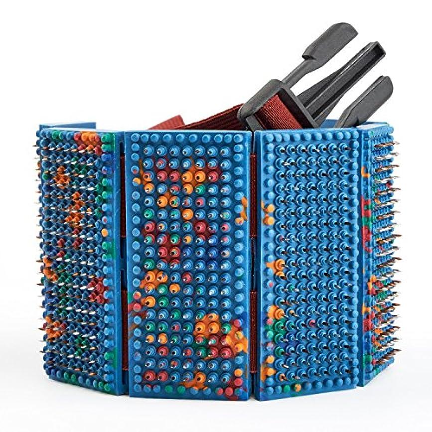 話す倫理コンチネンタルLYAPKO Acupuncture Belt KID 3.5 Ag 960 Needles 6 Plates with 2 Adjustable Belts. Premium Acupressure Massager...