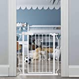 エルフ ベビー(Fairy Baby) ベビーゲート 階段上 ペットゲート ベビーフェンス 突っ張り式 ビデオ付き オートクローズ機能 扉開閉式 赤ちゃん ゲート ベビーガード 柵 高さ78cm 対象6~36ヶ月 (取付幅74-86cm ホワイト)