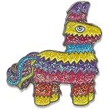 Wizard Pins Rainbow Glitter Donkey Fiesta Piñata Enamel Lapel Pin