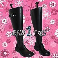 【サイズ選択可】コスプレ靴 ブーツ 10L0933 IS 〈インフィニット・ストラトス〉 ラウラ・ボーデヴィッヒ 男性27.5CM