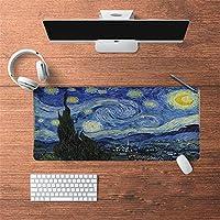 LL-COEUR 油絵 古代のスタイル オリエンタル 大型マウスパッド キーボード ゲーミング オフィス テーブルマット が良い 滑り止めゴム底(11)