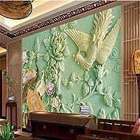 Sproud 絵画家の装飾中国の孔雀のレリーフ Murales De かわ壁紙ホテルの部屋 430 Cmx 300 Cm リビングの背景現代の壁画