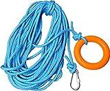 Ueasy 水に浮く救命ロープ レスキューロープ 30m 浮力ケーブル 高強度 救命リングと救命フックに付き 水泳 ライフセービング ダイビングなどに最適 ブルー (直径:10mm)