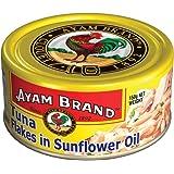 Ayam Brand Tuna Flakes in Sunflower Oil | Wild Caught Premium Tuna | Fine Flakes | Omega 3, Vitamin E, B6 & B12 | Halal & Hea
