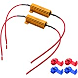 Safego LEDランプ抵抗器 12V 50W 3Ω 50w 3オーム 負荷抵抗を修正し LED電球ターンシグナルライトフラッシュ 2個付き