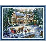 Anself DIY クロスステッチセット 刺繍キット 14CTクリスマスの風景 クロスステッチ 57*44cm ホームの装飾