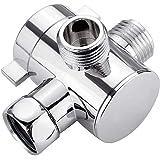 シャワー 分岐 シャワーヘッド Tアダプター 分岐水栓 3方向 分岐栓 切換バルブ 弁ダイバータ シャワーヘッド用 交換…