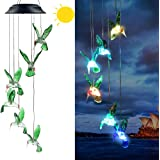Eleven Direction Solar Wind Chimes,Color Changing Hummingbird/Crystal Solar Lights,Decoration for Lawn,Patio,Yard,Garden,Bedr