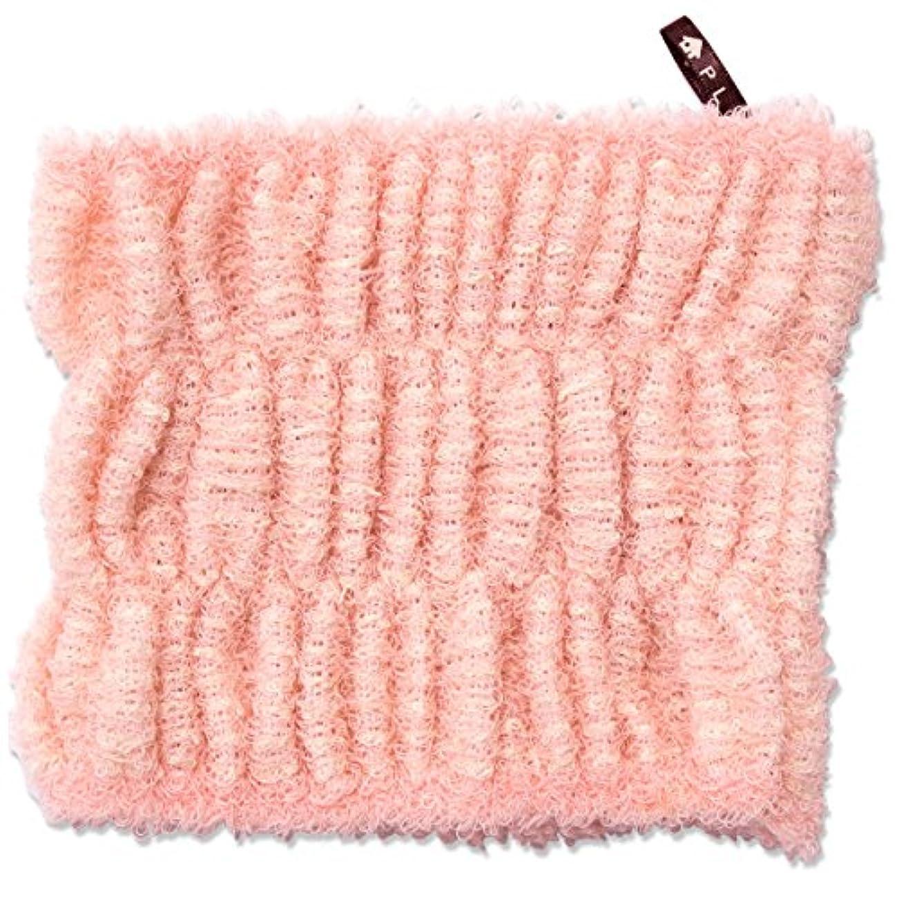 贈り物縞模様の論文オカ PLYS (プリス) バスミューズ ミレニアム バスヘアターバン (ピンク)