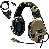 TAC-SKY SORDIN サバゲーヘッドセット、kenwood PTT附属