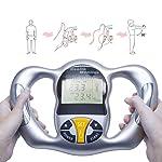 Handheld Body Fat Analyzer Fat Measuring Device Body Mass Index Analyzer Machine with LCD Display Readout BMI Analyzer...