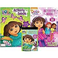 Dora the Explorerアクティビティブックwith over 30ステッカーとRewardステッカーブックwith over 100ステッカーPlus Dora and Friendsアクティビティブックwith over 30ステッカーby BT