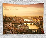 Best ホームコレクションバードハウス - Ambesonne Wanderlust Decor Collection Bridge Ponte Vecchio Italy Review