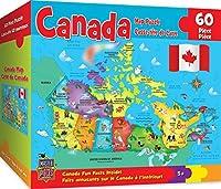 MasterPieces Explorer Kids - Canadian Map - 60 Piece Kids Puzzle [並行輸入品]