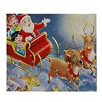 レンコス(Lemcos) プレイスマット リネン クリスマス かわいい ファッション ランチョンマット テーブルマット おしゃれ ホームパーティー 雰囲気 インテリア ダイニングテーブル 飾り 家庭 レストラン 用 滑り止め 摩擦 耐える 断熱 食卓 (G)