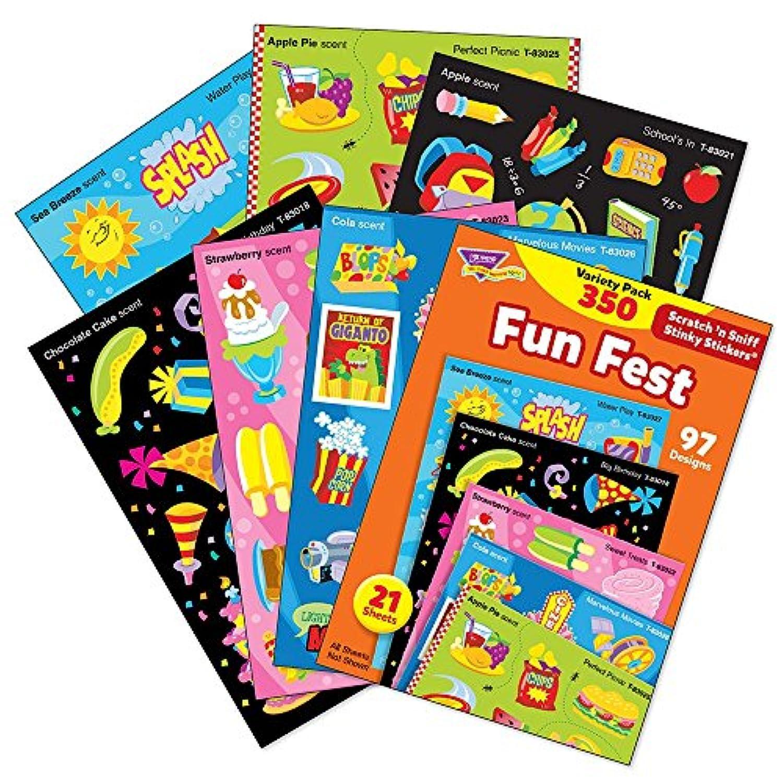 トレンド ごほうびシール 香り付 ワクワク バラエティセット 350片 Trend Stinky Stickers Variety Pack Fun Fest T-83906