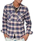ジョーカーセレクト(JOKER Select) ネルシャツ メンズ 長袖 シャツ 長袖シャツ チェックシャツ カジュアル フランネル チェックシャツ レディース M A柄(02)