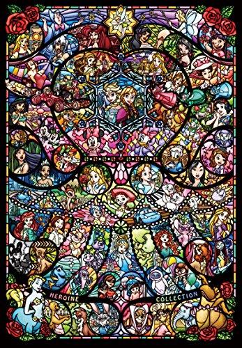 1000ピース ジグソーパズル ディズニー&ディズニー ピクサー ヒロインコレクション ステンドグラ...