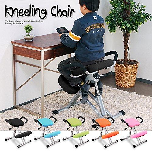 ニーリングチェア ブラック キッズチェア 長時間 学習バックボーンチェア 子供用 椅子 姿勢 腰痛 改善