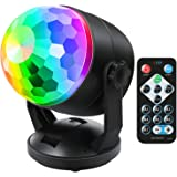 Disco Party Ball Lights, Sound Activated Party Lights with Remote Control 7 Colors RGB Dance Lamp Disco Dj Stage Strobe Light