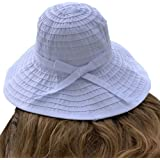 sungrubbies Women's Wide Brim Packable Sun Travel Hat for Large Heads - Ginger