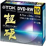 TDK データ用DVD-RW 1-2倍速対応 ホワイトワイドプリンタブル キズや指紋ヨゴレに強いスーパーハードコート・ディスク 「超硬」シリーズ 10枚パック DRW47HCPWA10A