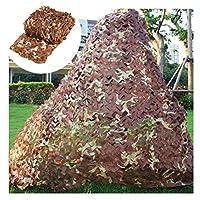 庭のための陰の網、2x3m 3x4mの茶色の迷彩の網キャンプの網のための軍隊の迷彩網狩猟射撃のために適した森林隠された多数のサイズ (Size : 6*6M)