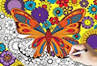 White Mountain Puzzles June Butterfly Coloring Puzzle (300 Piece) [並行輸入品]