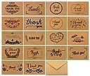 (ウレロ) urello THANK YOU メッセージカード クラフト グリーティングカード 封筒 付き (18枚セット)