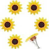 6 Pieces Car Air Freshener Sunflower car Accessories Sunflower Air Vent Clips Cute Car Air Freshener Sunflowers Gift Decorati