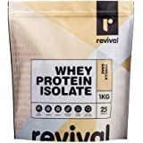 Revival Whey Protein Isolate |100% Natural ingredients | Pre & Probiotics, Vanilla Cake 1 kilograms