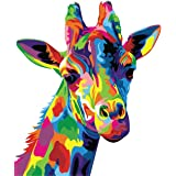 Paint by Numbers-DIY Digital Canvas Oil Painting Adults Kids Paint by Number Kits Home Decorations- Colorful Giraffe 16 * 20