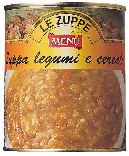 メニュー 3種の豆とスペルト小麦のスープ 850g