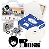 Bob Ross Painting Supplies 12 Piece Basic Master Paint Set - The Joy of Painting Landscape Oil Kit for Beginners with Canvas