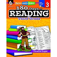 SHELL EDUCATION SEP50924 180 DAYS OF READING BOOK FOR THIRD