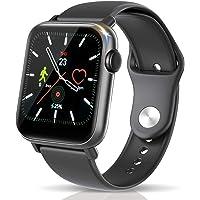 スマートウォッチ 最新Bluetooth5.0 健康管理 24時間心拍計 睡眠検測 長座注意 活動量計 歩数計 明度調整…