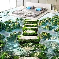 Wuyyii 現代の浴室カスタム3D壁紙壁紙タオル滑り止め防水増粘摩耗自己接着床 - 250×175 Cm