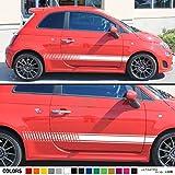 スポーツのセットサイドストライプデカールステッカービニールと互換性Fiat 500Abarth 2008,2011,2013,2016