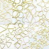 フレームパーツ ゴールド オールmix 全21種類各10個(計210個) 全タイプ全サイズ レジンクラフト 型 枠 チャーム ピアス イヤリング パーツ