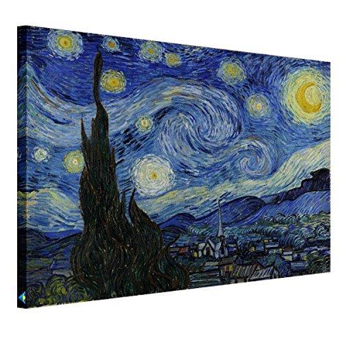 ポスター ゴッホ 星月夜 アートプリントポスター Arts モダン絵画 お洒落 アートパネル 横75cm*縦60cm