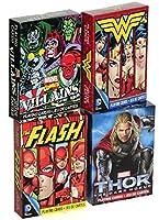 Marvel Comics / DC Comics Characters Playing Cards _ Assort #3 _ 4 Unique Decks [並行輸入品]