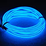 San Jison EL Wire Rope Lights Portable Battery Powered Wire Pack Drivers with 3 Modes EL Wire Flexible Glowing Strobing Elect