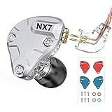NICEHCK NX7 PRO カナル型イヤホン バランスドアーマチュア型ドライバー4基+2DD(複合カーボンナノチューブダイナミック) + 1セラミック振動板ドライバー 片側に7基のドライバーユニット 交換可能なフィルターとフェイスプレート 2pin 着脱式 ハイブリット 2.5mmバランスプラグ 高音質 高遮音性 高解像度 HIFI 16芯高純度無酸素銅ケーブル付属 IEM (マイクなし, NX7 Pro 2.5mm)