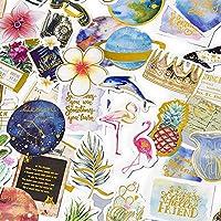 Plannerステッカー–Tropical Rain Forestフラミンゴ装飾アートステッカースクラップブックのコレクション、予定表、子供、DIYクラフト、アルバム、日記、Bullet仕訳(28個)