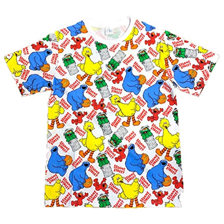 セサミストリート Tシャツ パターン Lサイズ SEAP295