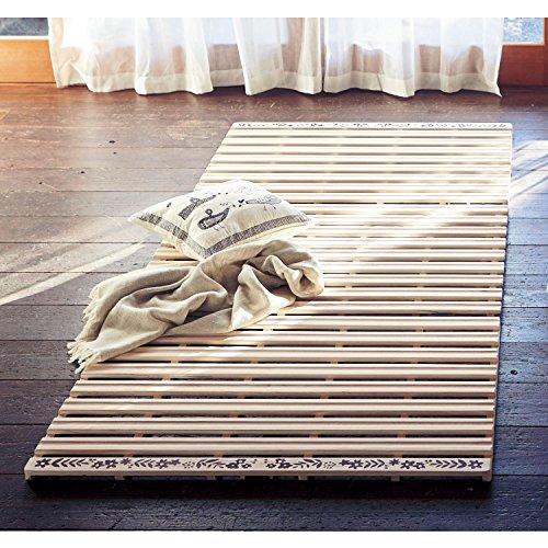 桐三つ折れ式すのこベッド  サイズ:シングル